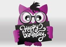 Grappige Gelukkige Verjaardagskaart Stock Foto's