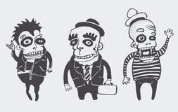 Grappige geplaatste personages Stock Foto's