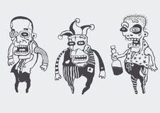 Grappige geplaatste personages Royalty-vrije Stock Foto's
