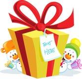 Grappige geïsoleerde Kerstmisgift Royalty-vrije Stock Foto