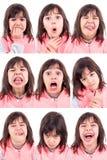 Grappige gezichten Royalty-vrije Stock Foto's