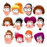 Grappige gezichten Royalty-vrije Stock Afbeeldingen