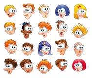 Grappige gezichten vector illustratie