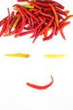 Grappige gezichtsspaanse peper Royalty-vrije Stock Afbeeldingen