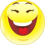 Grappige glimlach, glimlach, pictogram Royalty-vrije Stock Afbeelding