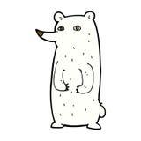 grappige grappige beeldverhaal ijsbeer Stock Afbeelding