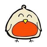 grappige grappige beeldverhaalkerstmis Robin Royalty-vrije Stock Fotografie