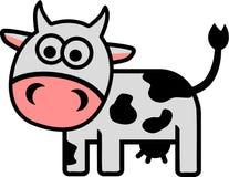 Grappige grappige koe Royalty-vrije Stock Foto