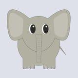 Grappige grijze beeldverhaalolifant Royalty-vrije Stock Afbeeldingen