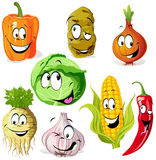 Grappige groente Stock Afbeeldingen