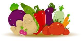 Grappige groenten Royalty-vrije Stock Foto