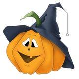 Grappige Halloween-pompoen Stock Foto's