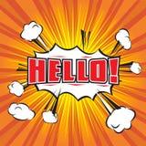 Grappige Hello-Toespraakbel Royalty-vrije Stock Foto