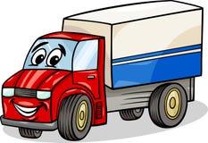 Grappige het beeldverhaalillustratie van de vrachtwagenauto Stock Afbeelding