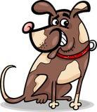Grappige het beeldverhaalillustratie van de zittingshond Royalty-vrije Stock Foto