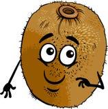 Grappige het beeldverhaalillustratie van het kiwifruit Stock Afbeelding