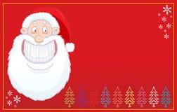 Grappige het glimlachen van de Kerstman ridens kaart Royalty-vrije Stock Afbeeldingen