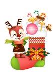 Grappige het pictogramreeksen van de Kerstmisdecoratie - Creatieve illustratie eps10 vector illustratie