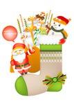 Grappige het pictogramreeksen van de Kerstmisdecoratie - Creatieve illustratie eps10 Royalty-vrije Stock Foto