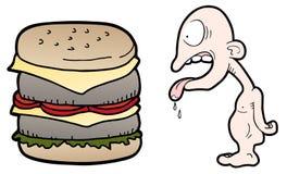 Grappige hongerige jongen Royalty-vrije Stock Afbeelding