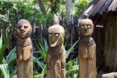 Grappige houten mensen Stock Foto's