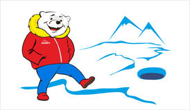 Grappige ijsbeer Royalty-vrije Stock Afbeelding