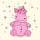 Grappige illustratie van een nijlpaard Stock Foto