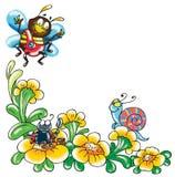 Grappige insecten stock illustratie