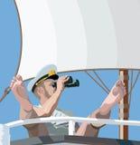 Grappige kapitein Stock Afbeeldingen