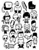 Grappige karakters royalty-vrije illustratie
