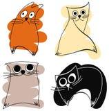 Grappige katten Stock Afbeeldingen