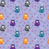 Grappige kattenachtergrond Stock Fotografie