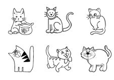 Grappige kattenvector Royalty-vrije Stock Afbeeldingen