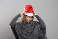 Grappige Kerstmis Royalty-vrije Stock Foto