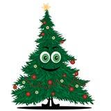 Grappige Kerstmisboom Royalty-vrije Stock Afbeelding
