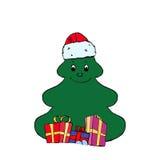 Grappige Kerstmisboom Stock Afbeelding