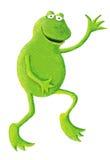 Grappige kikker die op het recht danst Stock Foto