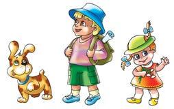 Grappige kinderen royalty-vrije illustratie