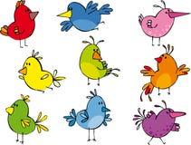 Grappige kleine vogeltjes Royalty-vrije Stock Afbeelding