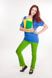 Grappige kleurrijke jonge student. Stock Fotografie