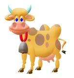 Grappige koe Royalty-vrije Stock Afbeeldingen