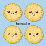 Grappige koekjes Stock Foto