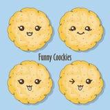 Grappige koekjes Stock Afbeeldingen