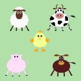 Grappige landbouwbedrijfdieren Royalty-vrije Stock Fotografie