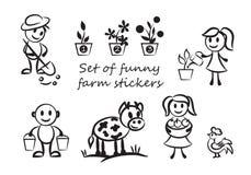 Grappige landbouwers Stock Foto's