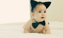 Grappige 6 maand oude baby Royalty-vrije Stock Fotografie