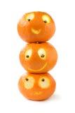 Grappige mandarijnen Royalty-vrije Stock Afbeeldingen