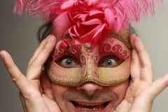 Grappige maskerade royalty-vrije stock afbeelding