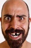 Grappige mens zonder een tand Stock Fotografie