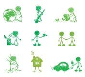 Grappige Mensen - Ecologie royalty-vrije illustratie